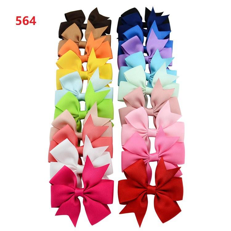 20個嬰兒女孩髮夾蝴蝶結可愛的孩子髮夾蹣跚學步的配件髮飾