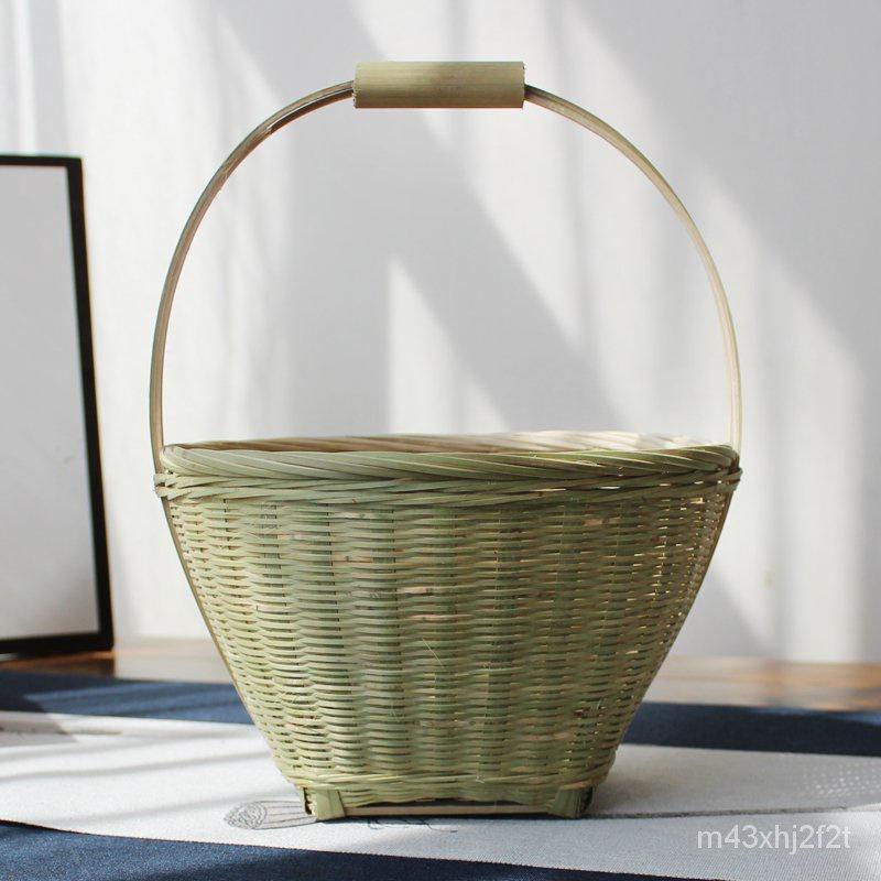 純手工竹製手藝品/手提籃水果竹籃收納筐竹簍竹筐果盤農家家用雞蛋籃竹製品竹編製品