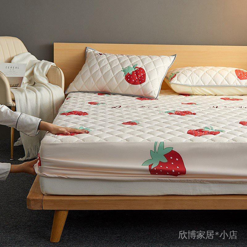 高端良品水洗棉防水夾棉床包100%防水/日式透氣防螨保潔墊/單人/雙人/加大/床單/床包式防水保潔墊