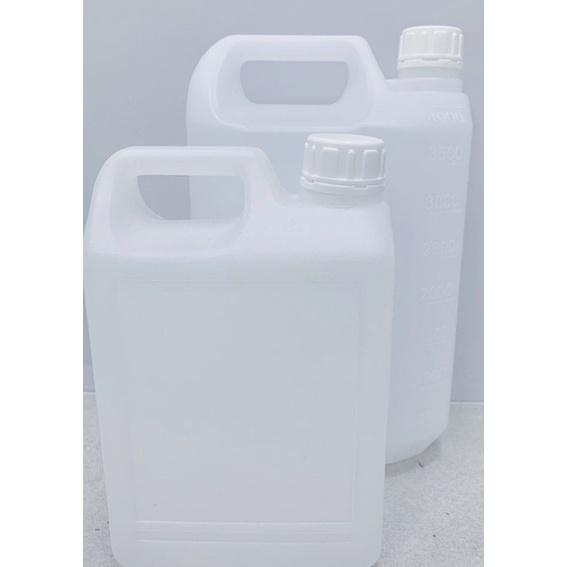 ⭕️塑膠射出工廠寄賣⭕️ 2號HDPE半透光空桶4000ml耐酸鹼4公升可分裝酒精次氯酸水二氧化氯瓶罐‼️一袋30支‼️