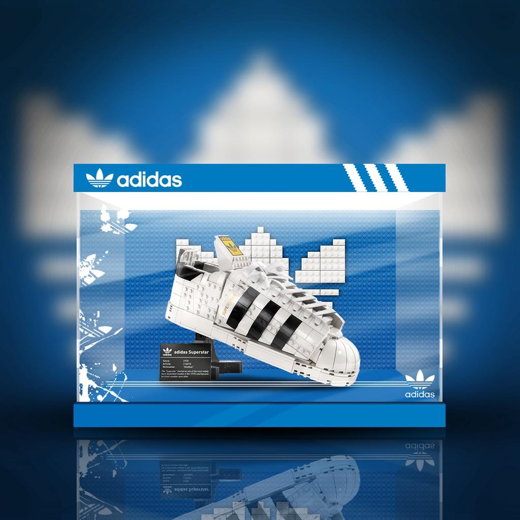 【模盒】LEGO 樂高 10282 阿迪達斯 貝殼頭 球鞋 專用展示盒