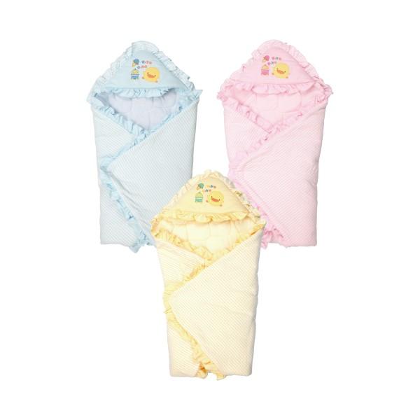 黃色小鴨PiyoPiyo- 橫條冬季包巾(黃色小鴨官方直營)