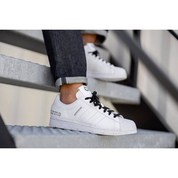 ADIDAS ORIGINALS SUPERSTAR SUSTAINABILITY 黑白 百搭 潑墨 滑板鞋FW2293