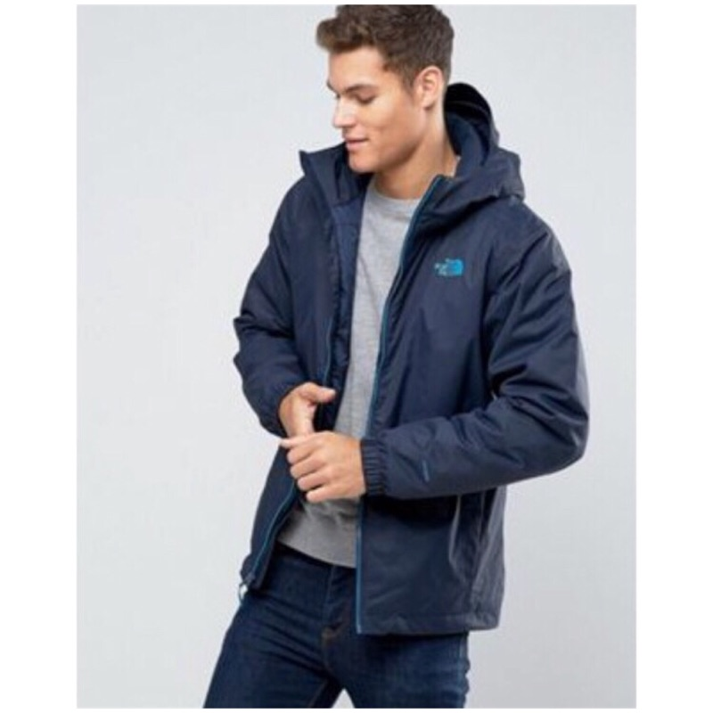 The North Face Mens Quest Insulated Jacket 灰 深藍 鋪棉外套 防水防風