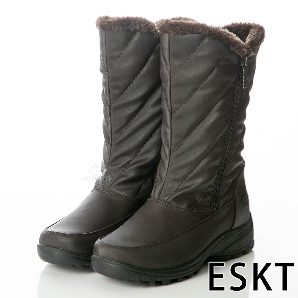 【ESKT】SN232 女中筒雪鞋『咖啡』SN232