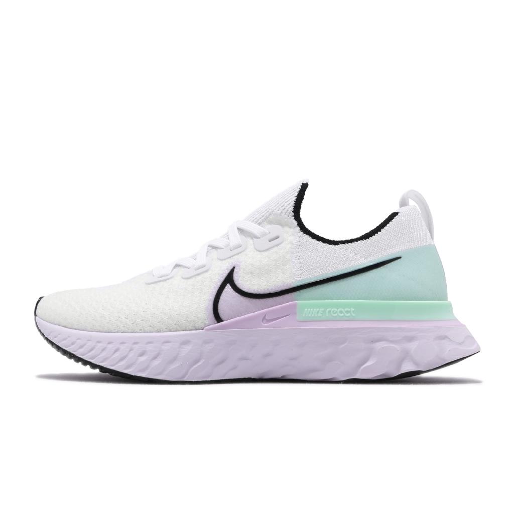Nike 慢跑鞋 React Infinity Run FK 白 紫 女鞋 運動鞋【ACS】 CD4372-100