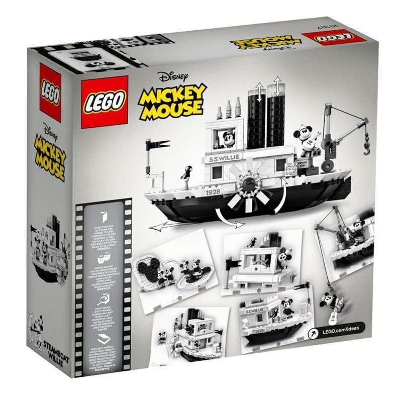 【樂高積木】LEGO樂高21317  Ideas 米奇老鼠90周年 汽船威利號拼裝積木玩具