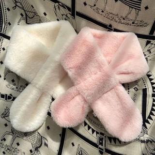兒童圍巾秋冬季毛絨親子可愛卡通仿兔毛寶寶圍脖男童女童毛毛冬