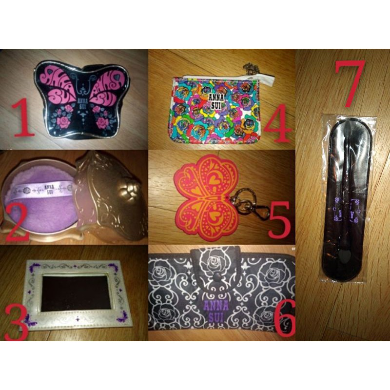 Anna sui 安娜蘇鑰匙圈/化妝包/粉撲盒/零錢包