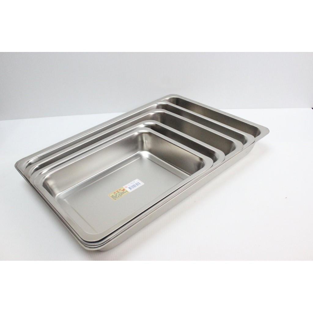 哈哈商城 台灣製 高 5cm 304 不銹鋼 方盤 ~  餐盤 托盤 茶盤 烤肉 零件 螺絲 餐具 小吃 機械 加工