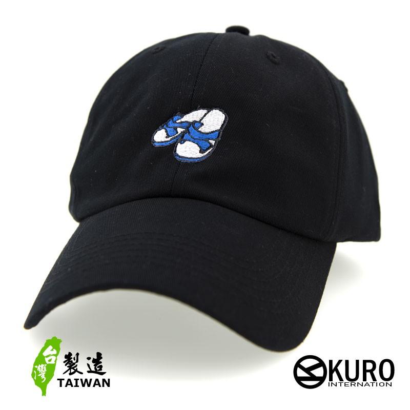 KURO-SHOP台客精神-藍白拖電繡 老帽 棒球帽 布帽(可客製化電繡)