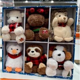好市多 代購 4.5吋 聖誕樹 聖誕  絨毛玩偶 裝飾 6入 聖誕節限定