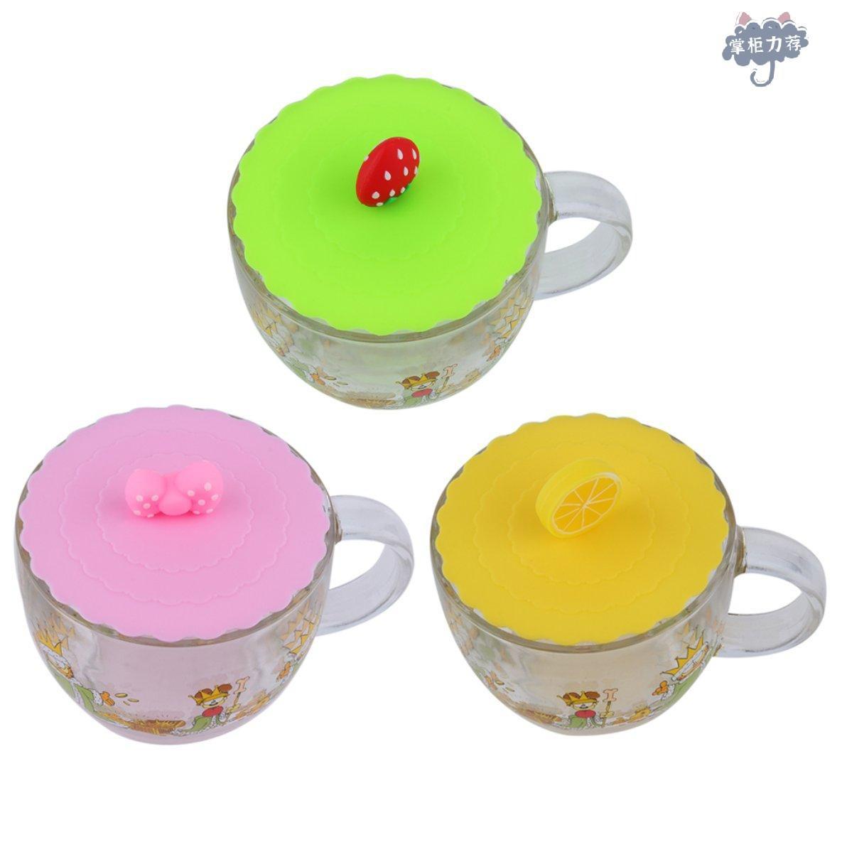 矽膠可愛防塵玻璃杯蓋咖啡杯吸密封蓋蓋