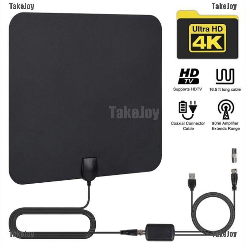 [TakeJoy]數字ATSC / DVB-T2天線電視高清4K天線數字室內高清電視1080p放大器果凍