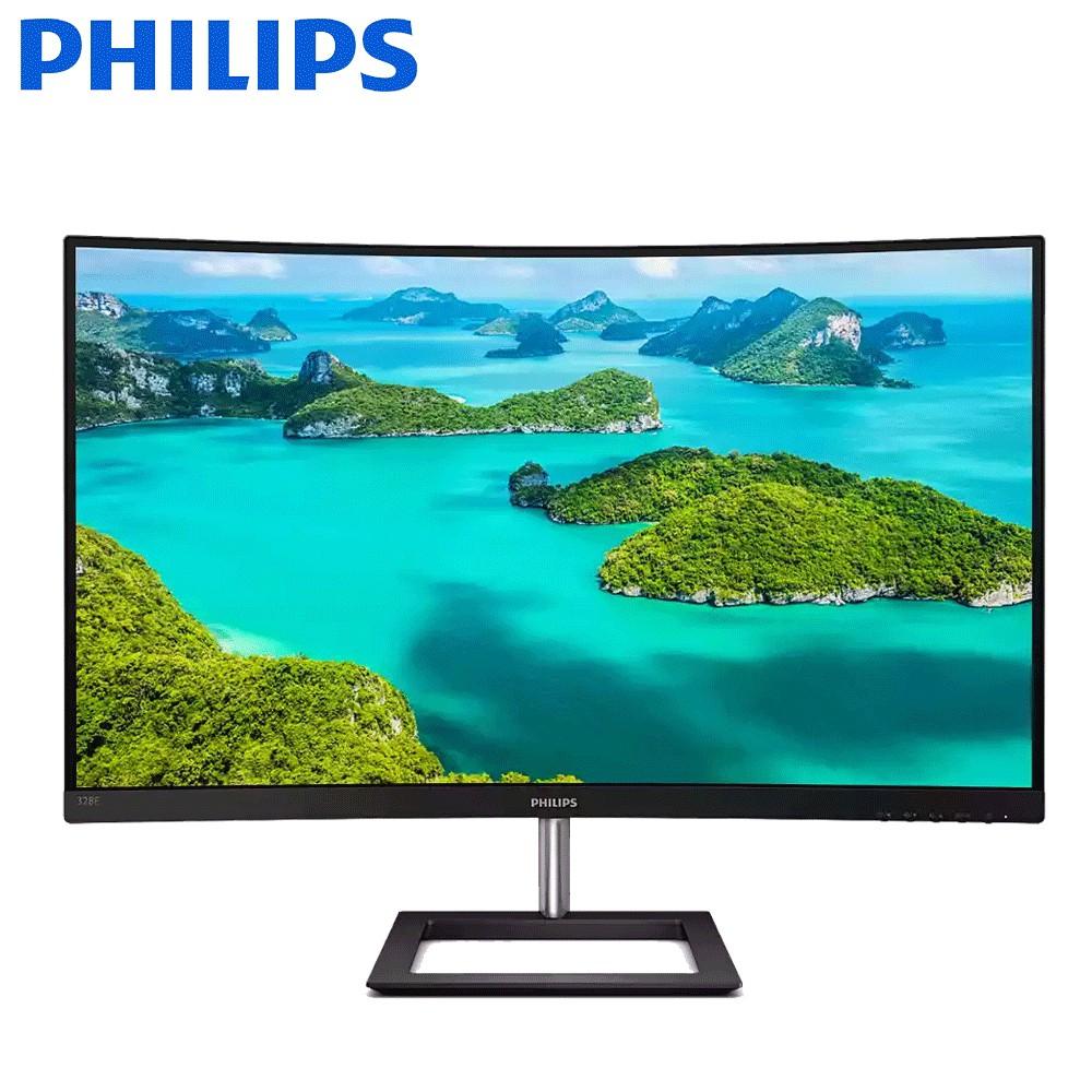 福利品 非宜花東/偏遠加價地區可免運 含稅 PHILIPS 飛利浦 328E1CA 32型 曲面寬螢幕顯示器(黑)