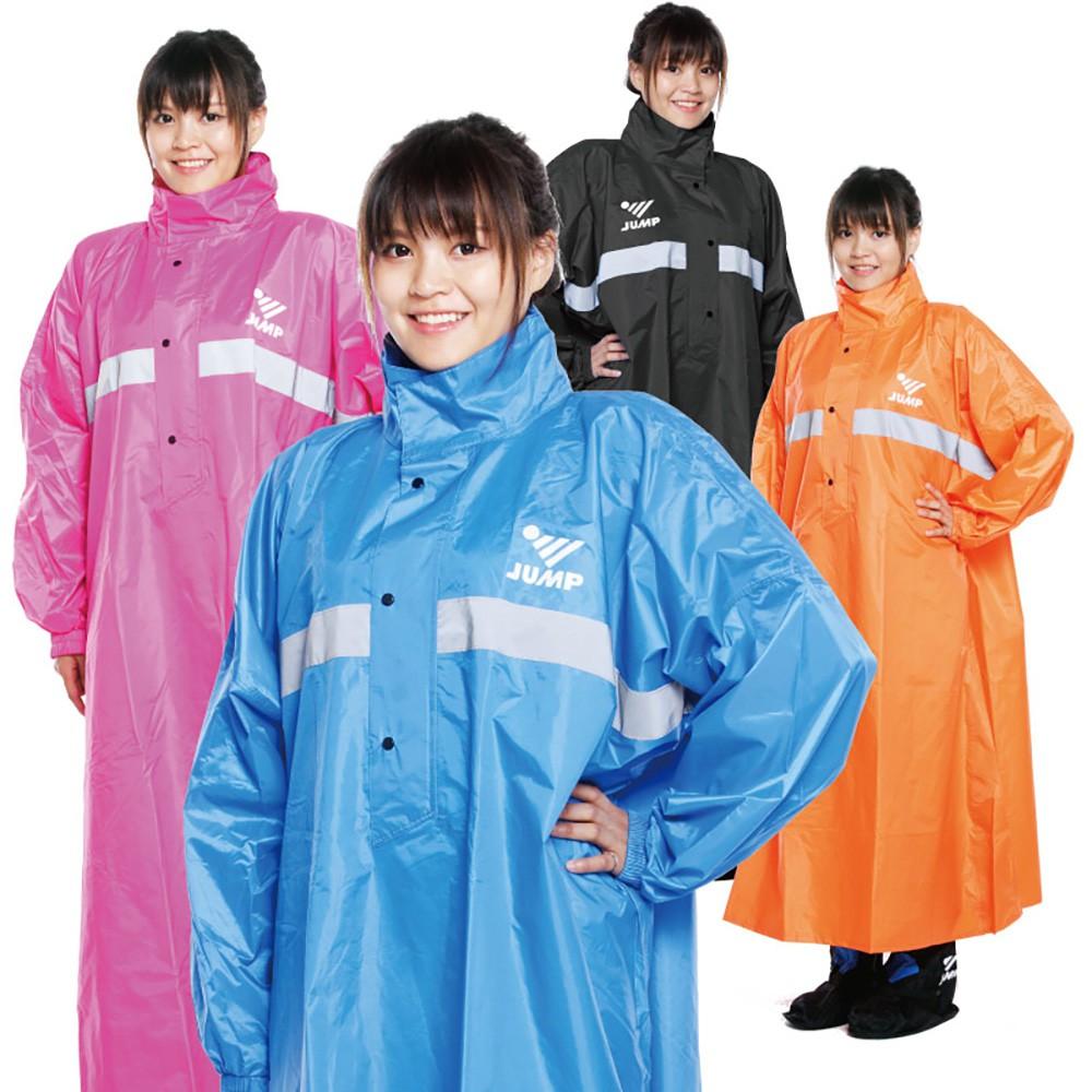 JUMP 太空套頭半開式連身休閒風雨衣(2XL~5XL)加大尺寸