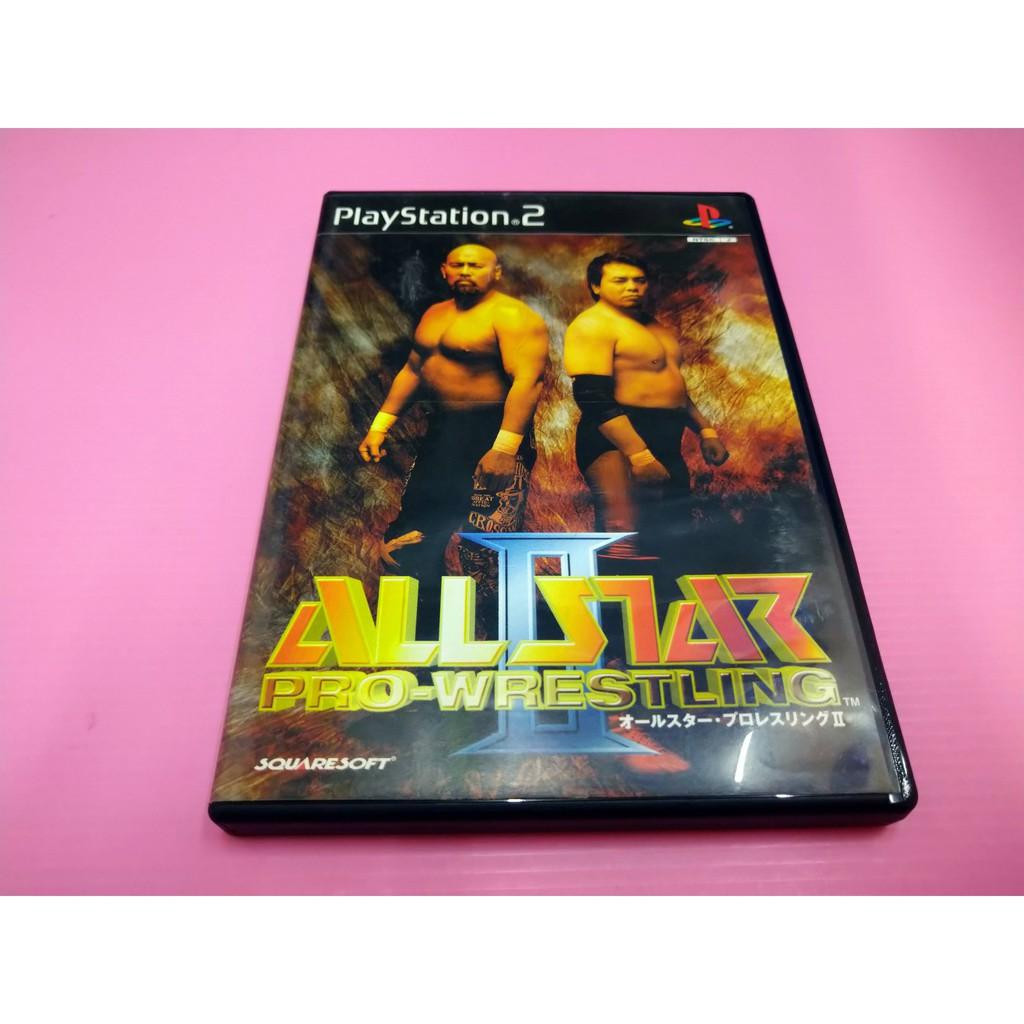 格 出清價! 網路最便宜 PS2 2手原廠遊戲片 全明星職業 摔角 2 All Star Pro  Wrestling