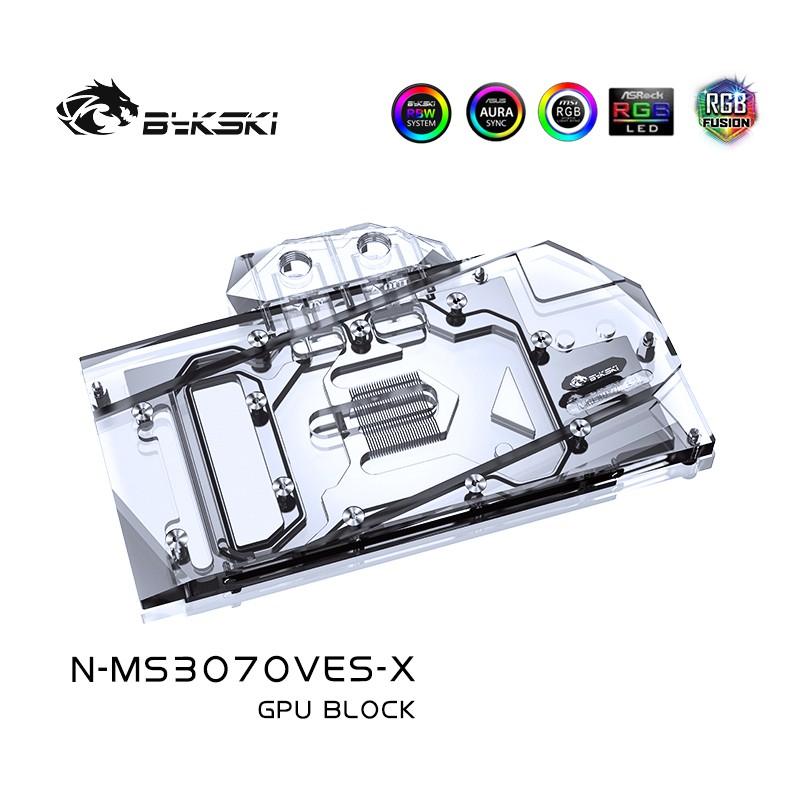 Bykski N-Ms3070Ves-X Msi Geforce Rtx3070 Ventus 全覆蓋 Gpu 水塊 -