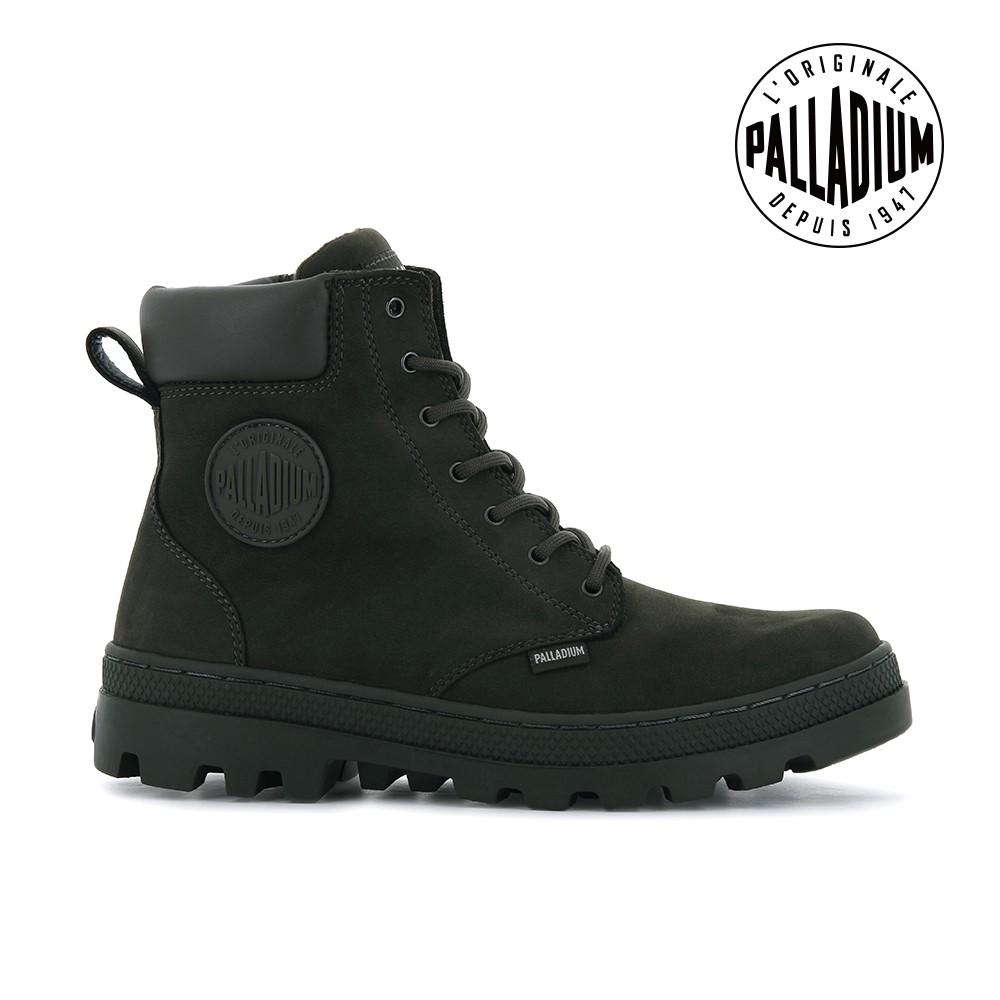 PALLADIUM PALLABOSSE SC ZIP WP+皮革拉鍊防水靴-女-墨綠