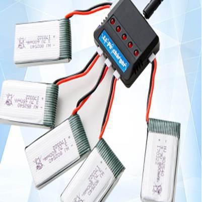 JY018 Q9 X8TW  JST 插頭 附線五條  3.7V 一充五 附充電器