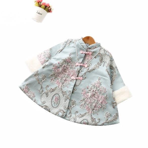 女童中國風雕花刺繡外套 女童外套 新年服飾【蘋果小舖】(RE)1912 A6++01/15