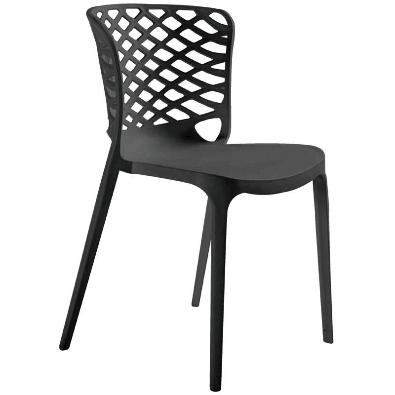 【C1963-06】PP塑鋼造型椅(657)(黑)