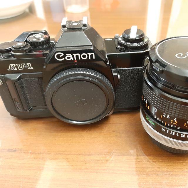 Canon AV-1 單眼相機 + 50mm F1.4 SSC鍍膜 大光圈銘鏡