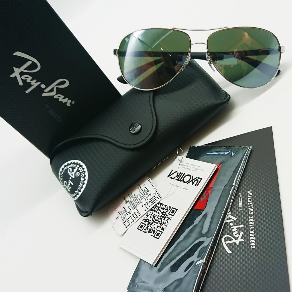 ✨精品優惠✨[檸檬眼鏡] RayBan RB8313 003 40 白水銀灰色鏡片 碳纖維鏡腳  旭日原廠公司貨