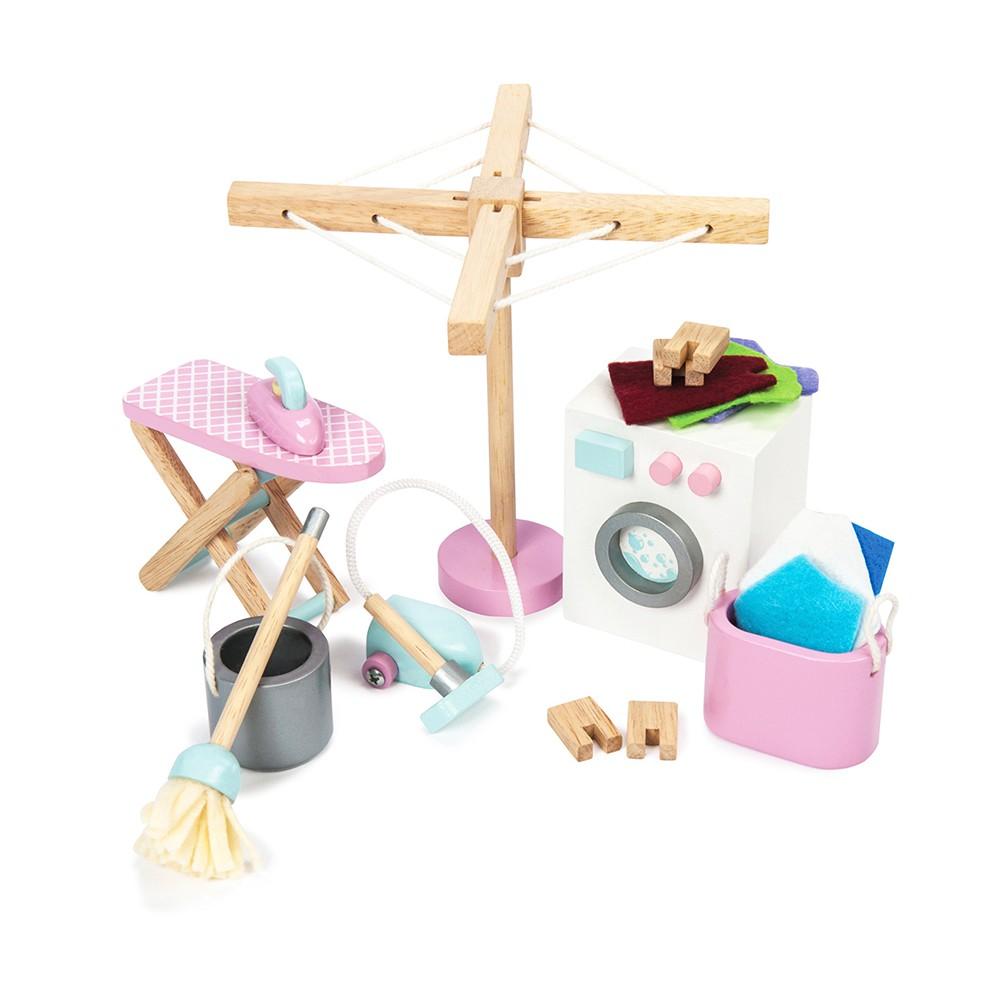 英國 Le Toy Van 夢幻娃娃屋配件系列-娃娃屋專屬洗衣房(ME038)【hughugbaby抱抱寶貝】