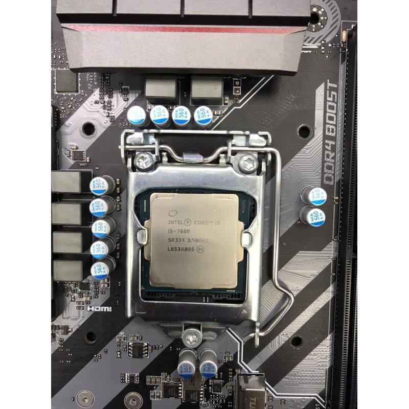 Intel i5-7600 CPU 1151腳位  二手良品,附上原廠風扇,功能都正常,已過保固期,無原廠外盒