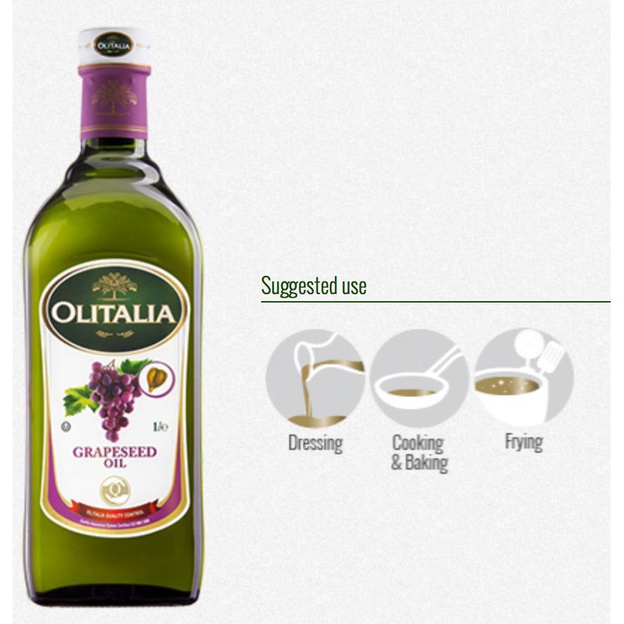 【義大利原裝進口】奧利塔葡萄籽油 1000ml