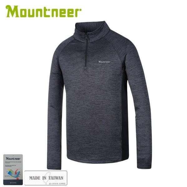 【Mountneer 山林 男雲彩針織保暖上衣《黑》】32P19/休閒長袖/保暖長袖