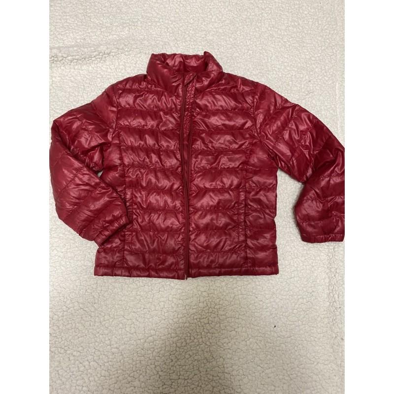 Uniqlo 超輕羽絨外套 兒童 120cm 紅色