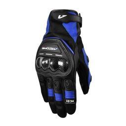 ASTONE KC01 黑/藍 透氣雙手觸控防摔手套 碳纖護具 / 限時下殺