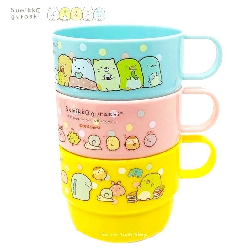 SAN-X 角落生物【 TW SAS日本限定 】日常生活版 兒童水杯 / 杯子 / 茶杯 3入套組