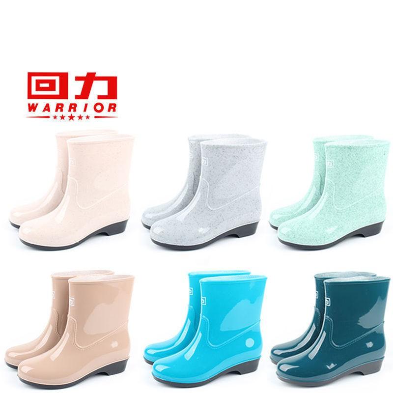 *精選*正品回力短筒雨鞋女春秋雨鞋防滑耐磨防水雨鞋女款時尚短筒雨靴