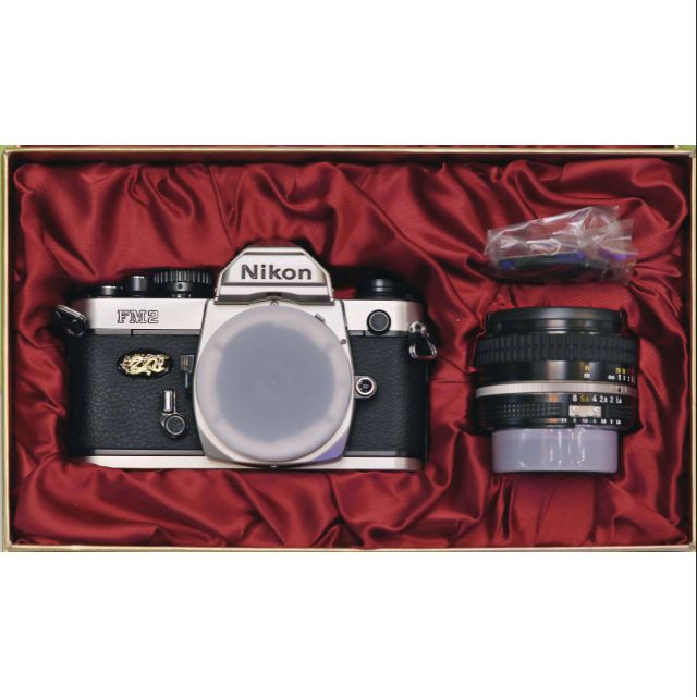 Nikon FM2 2000 千禧龍年紀念機+Nikon Ais 50mm F1.4 定焦鏡 底片機 全新絕版