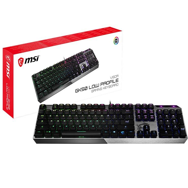 MSI Vigor GK50 Low Profile 電競鍵盤