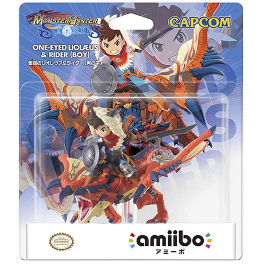 【蝦蝦兔】正版amiibo任天堂怪物獵人物語雄火龍冰牙龍彩鳥手辦現貨包郵