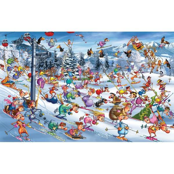 (現貨)歐洲PIA拼圖---聖誕劃雪/RUYER(1000片)5351