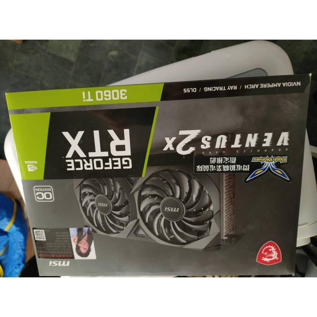 微星GeForce RTX3060 TI VENTUS 2X OCV1 未鎖算力