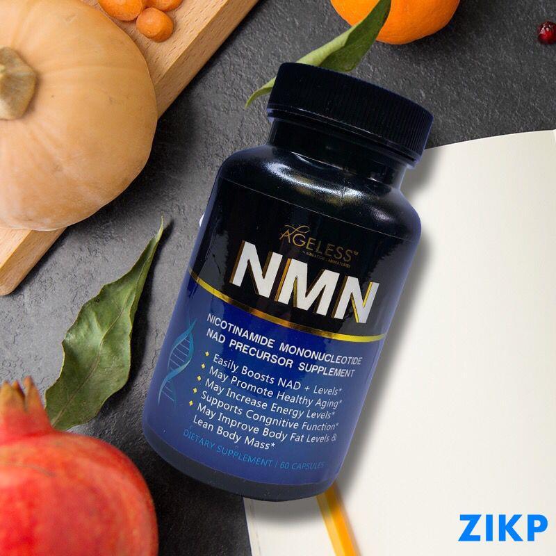Ageless美國進口NMN9600煙酰胺單核苷酸 NAD補充劑膠囊60粒-子子