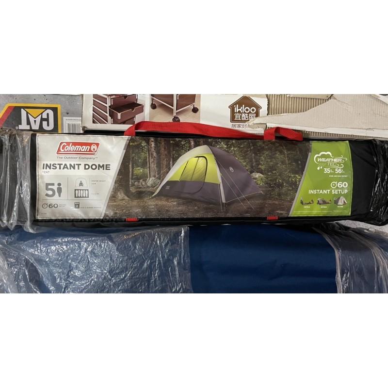 好市多 COLEMAN 10'X7' TENT 快搭型 速開型 全罩式五人帳篷 #948470 露營 帳篷