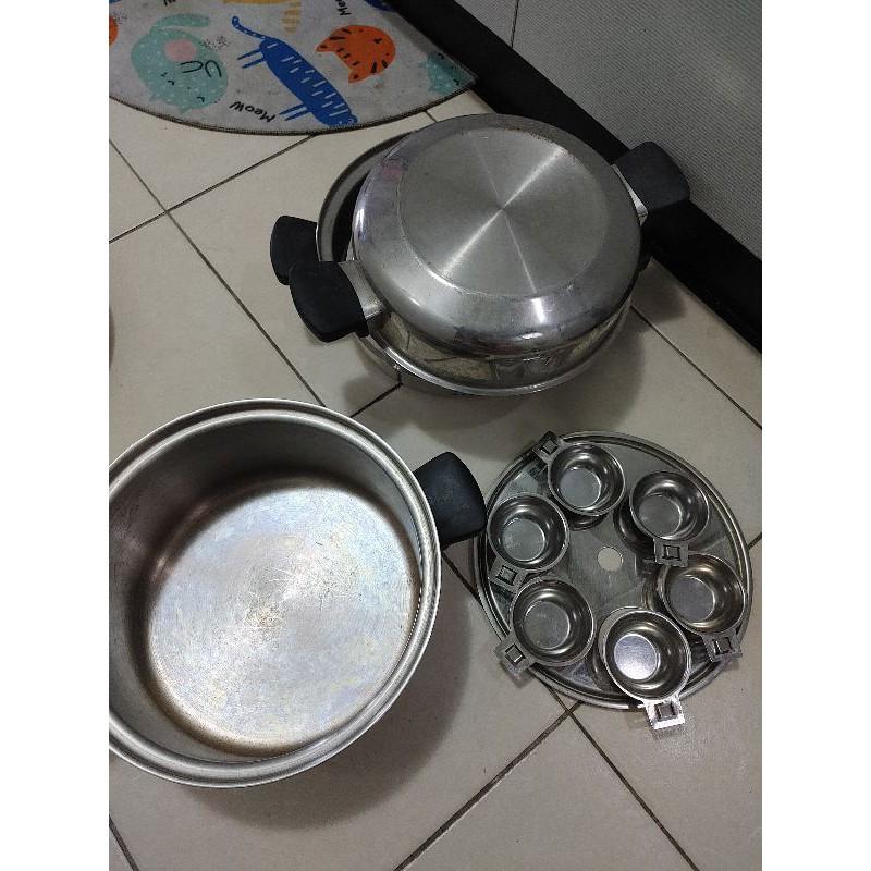 安麗金鍋,附小皿,可放肉丸,蛋