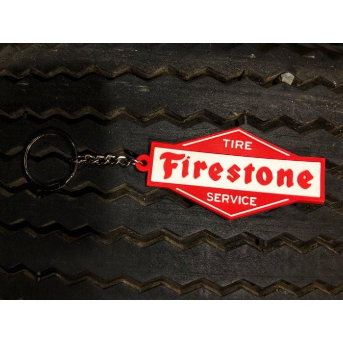 美國經典輪胎品牌 Firestone 軟膠鑰匙圈