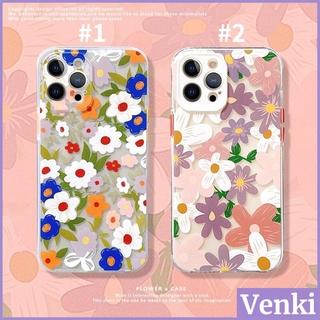 iPhone 手機殼 矽膠 軟殼 清透殼 防震 保護 相機 全覆蓋 復古 水彩畫 花朵 風格  iPhone 12