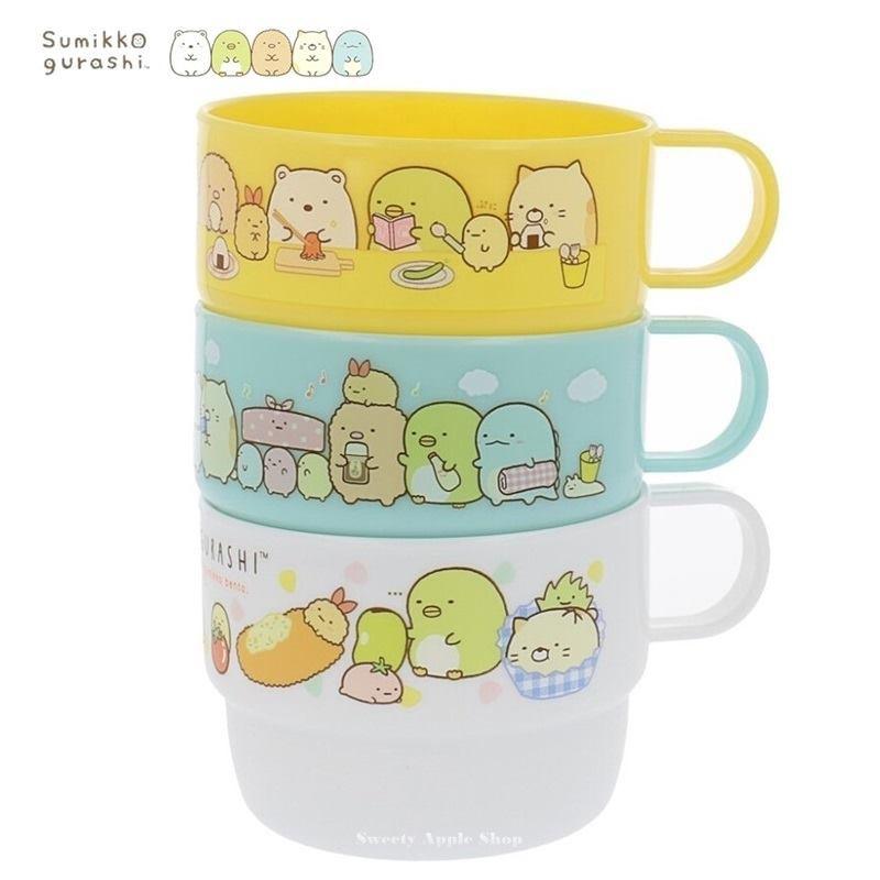 SAN-X 角落生物【 TW SAS日本限定 】美食版 兒童水杯 / 杯子 / 茶杯 3入套組