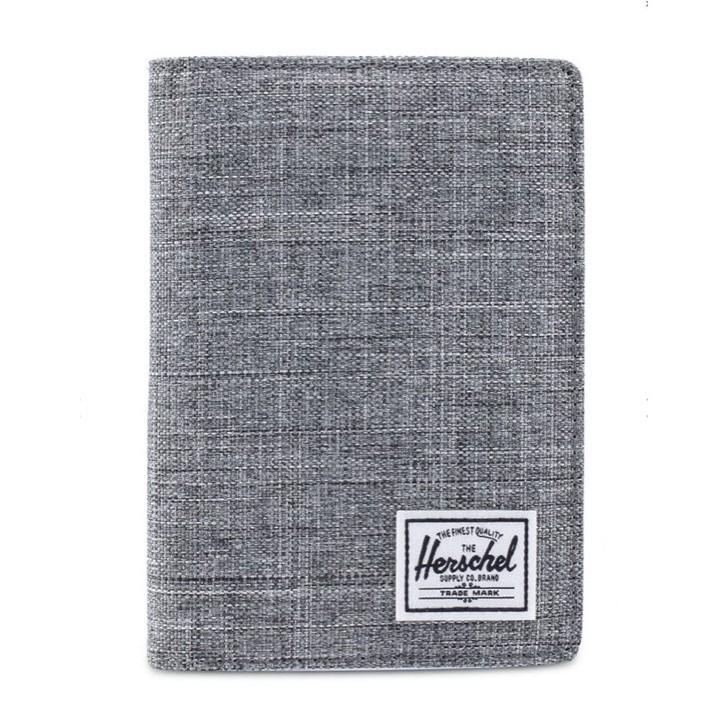 Herschel Raynor 灰黑 灰色 帆布 防潑水 RFID 防盜 出國 旅遊 卡夾 證件夾 護照夾 護照套 現貨