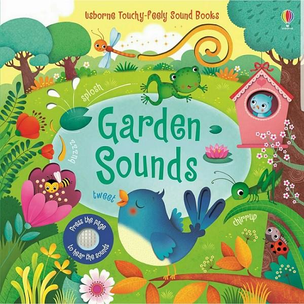 【Usborne】觸控音效書 Garden Sounds 硬頁音效書 挖洞設計