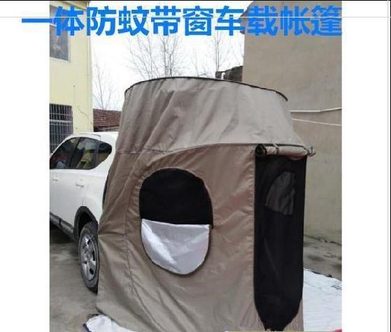 換衣服側邊帳蓬防曬輕便耐用車尾延伸帳篷汽車露營車防蚊蟲雨棚帶窗
